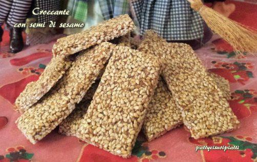 Croccante con semi di sesamo