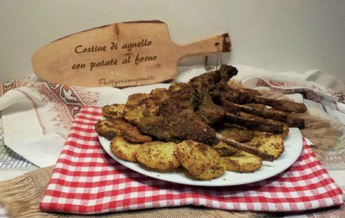 Costine di agnello con patate al forno