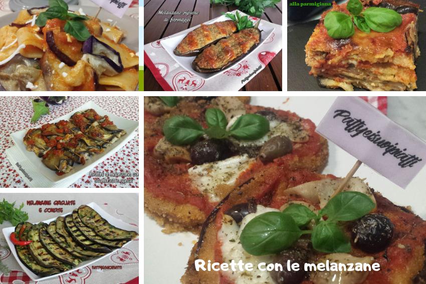 raccolta di ricette con melanzane