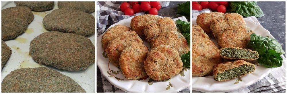 cotolette di pollo e spinaci