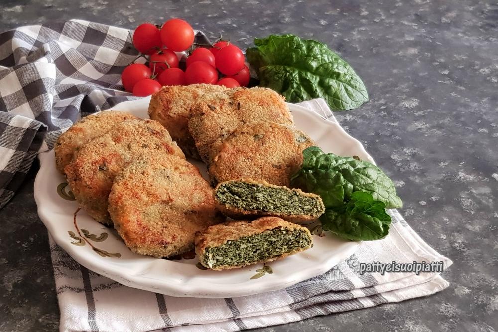 cotoletta di pollo e spinaci