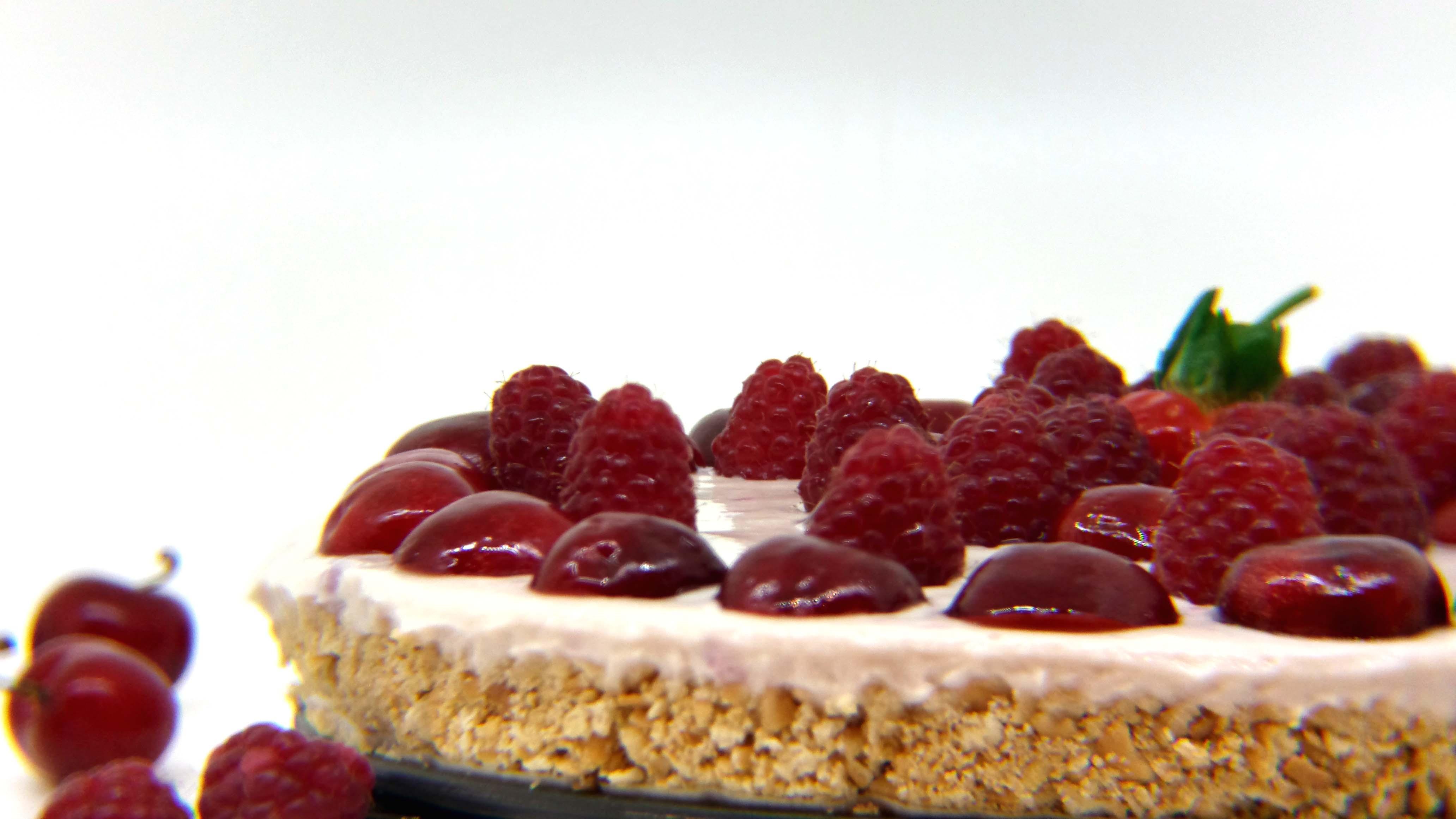 Cheesecake fredda senza gelatina e senza panna
