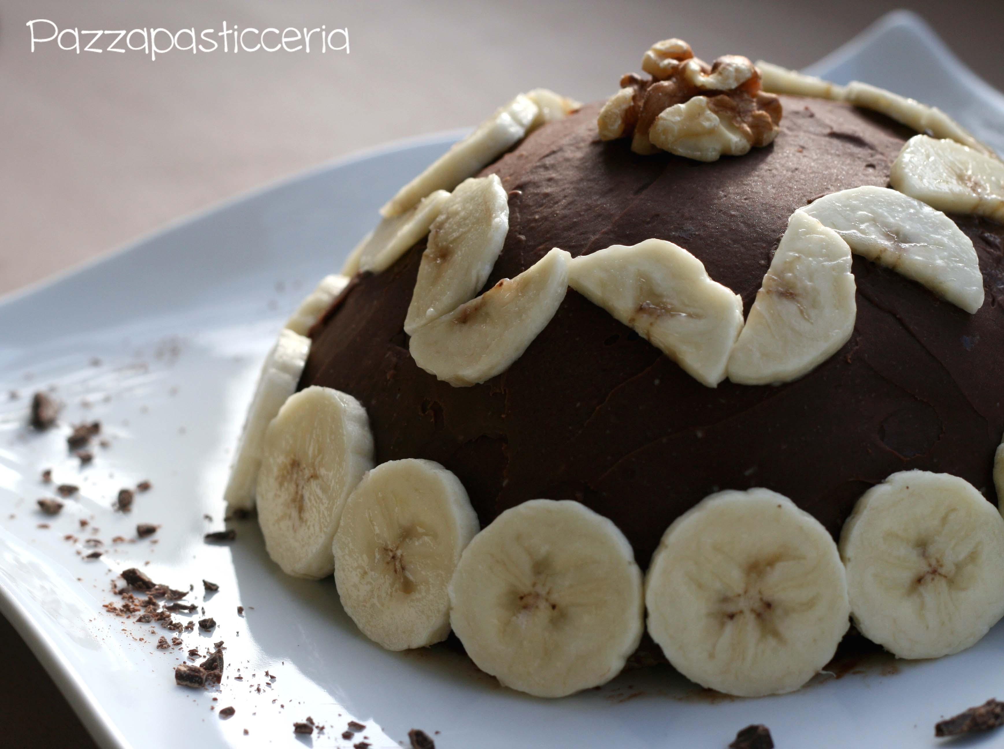 Zuccotto banane e cioccolato