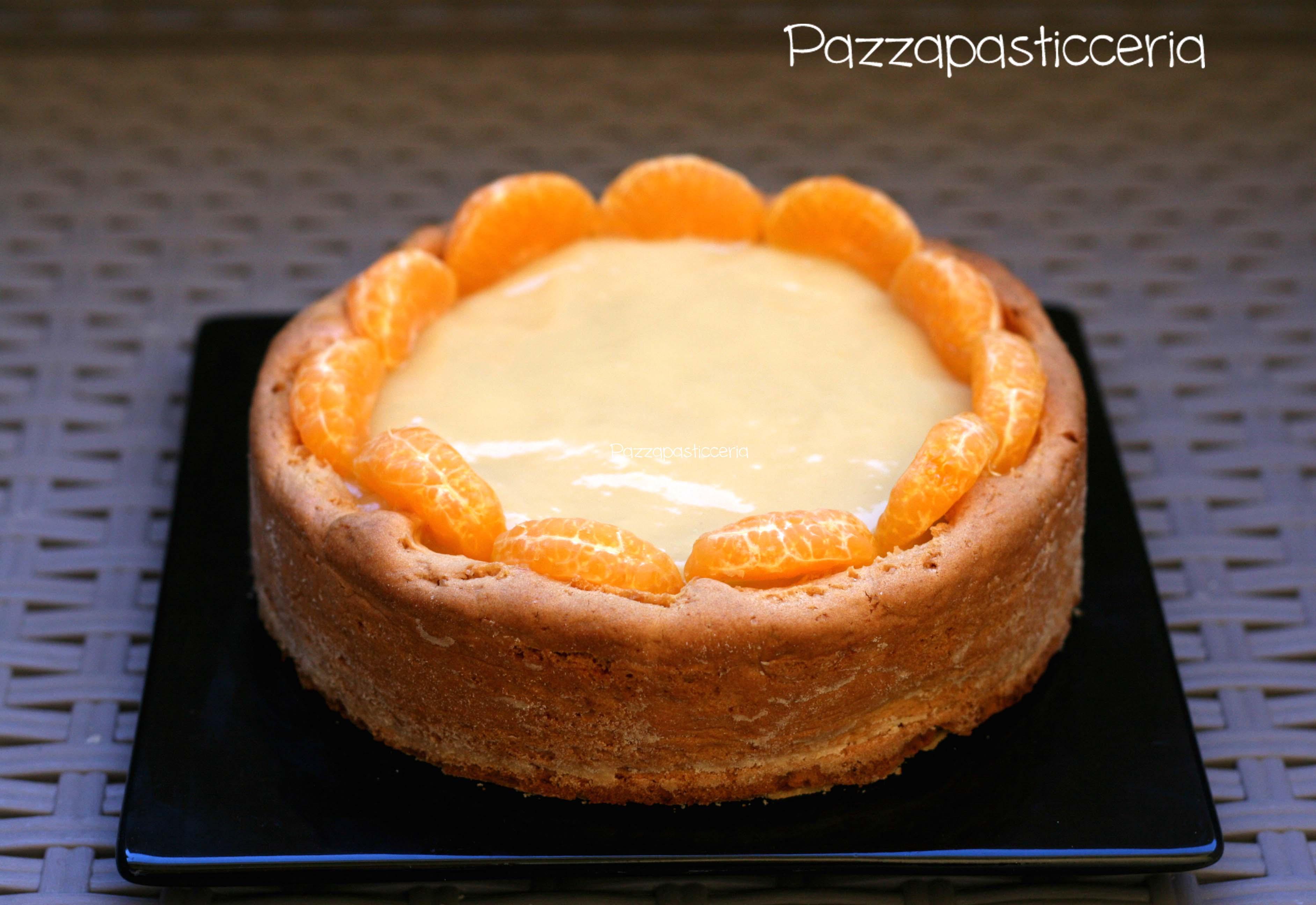 Crostata con crema al limone e mandarini caramellati