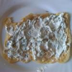 5) stendere il formaggio