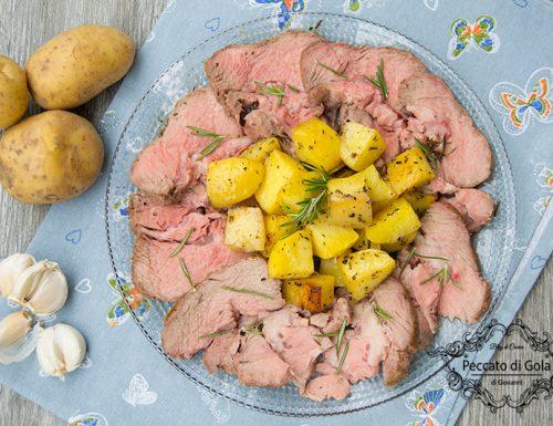Arrosto di vitello e patate al forno