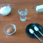 1) gli ingredienti per la pasta frolla salata