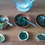 7) riempite le crostatine singolarmente con gli ortaggi
