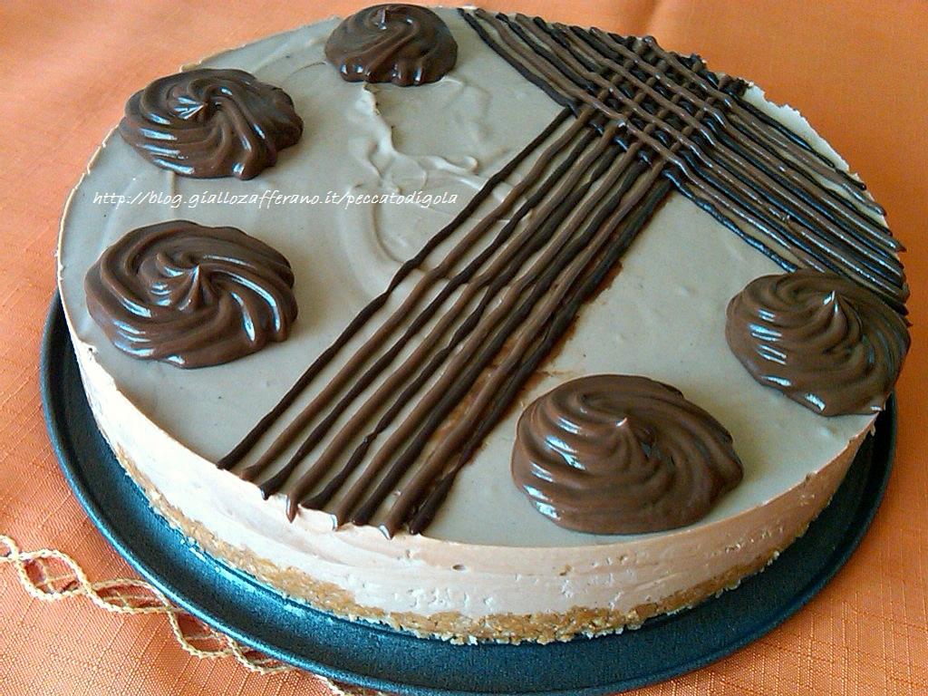 5) il cheesecake di cocco e doppio cioccolato pronto