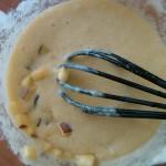 3) dopo aver aggiunto marsala e succo d'arancia, aggiungete la mela a cubetti e l'uvetta strizzata
