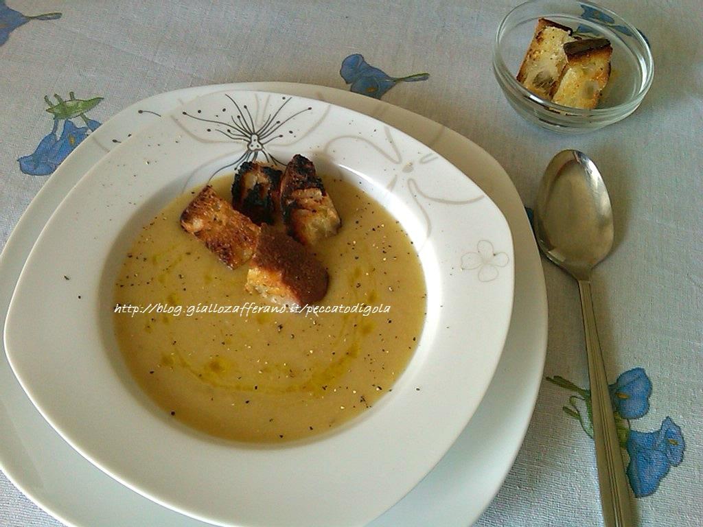 11) la crema ai porri e patate pronta