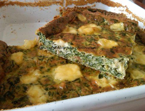 Frittata di spinaci al forno alla Laudia
