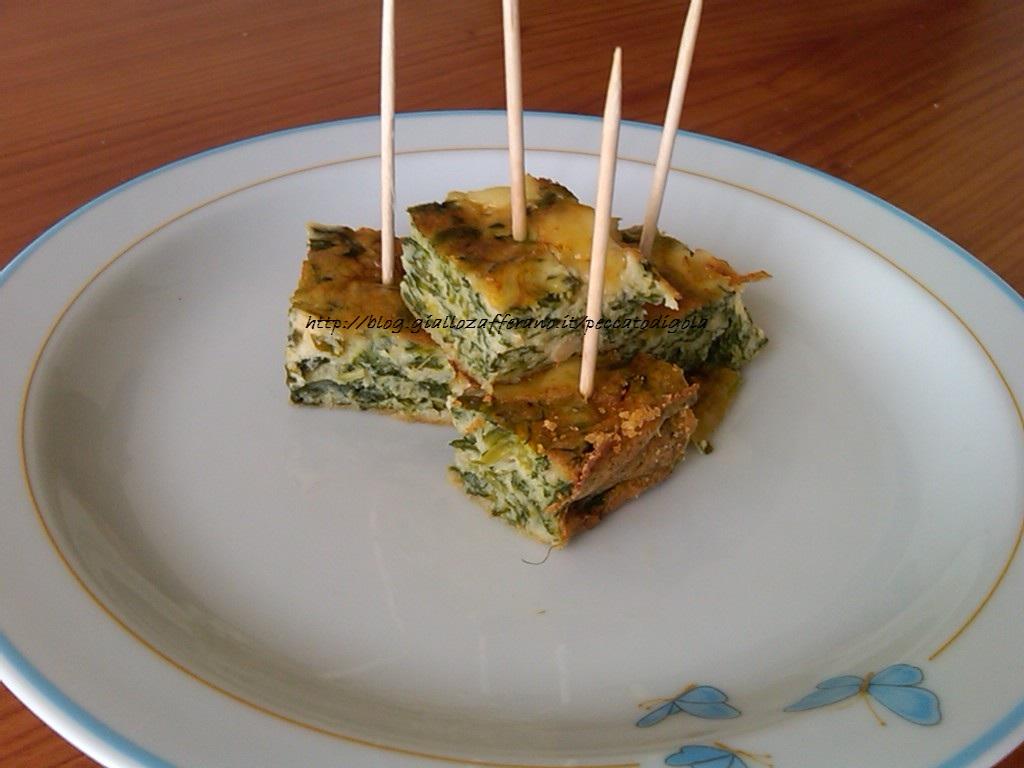 11) la frittata al forno alla Laudia versione finger food