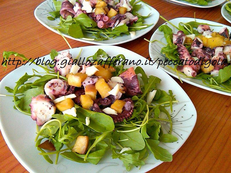 7) il polipo all'insalata con mela caramellata pronto