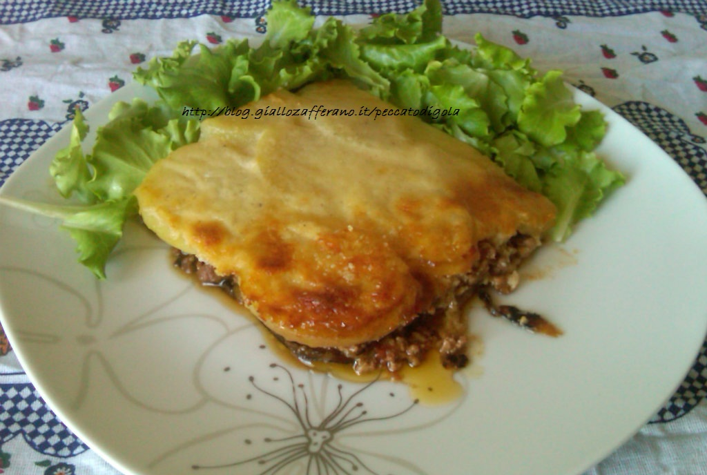 12) la moussaka pronta