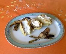 Conchiglioni ripieni di salsicce e carciofi, ricetta primo piatto