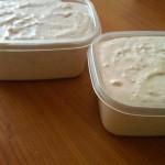 8) lasciate riposare in frigo in uno stampo da plum cake (se non l'avete andranno bene dei contenitori)