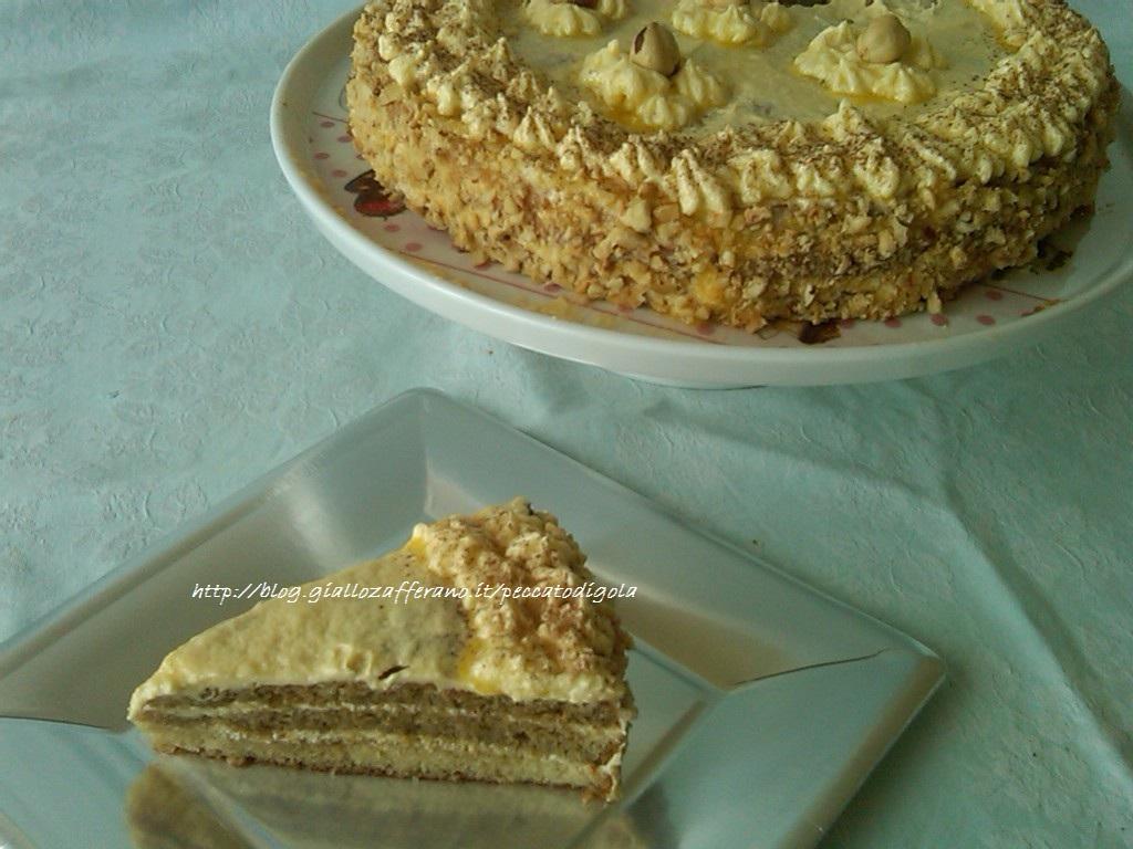 3) la torta al burro e caffè pronta