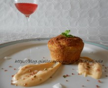 Tortino di tonno con crema delicata allo zafferano
