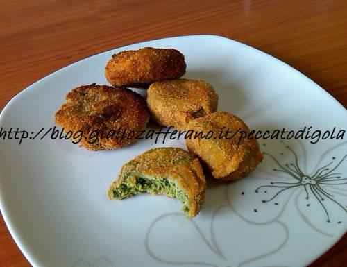 Crocchette e pepite di pollo e spinaci