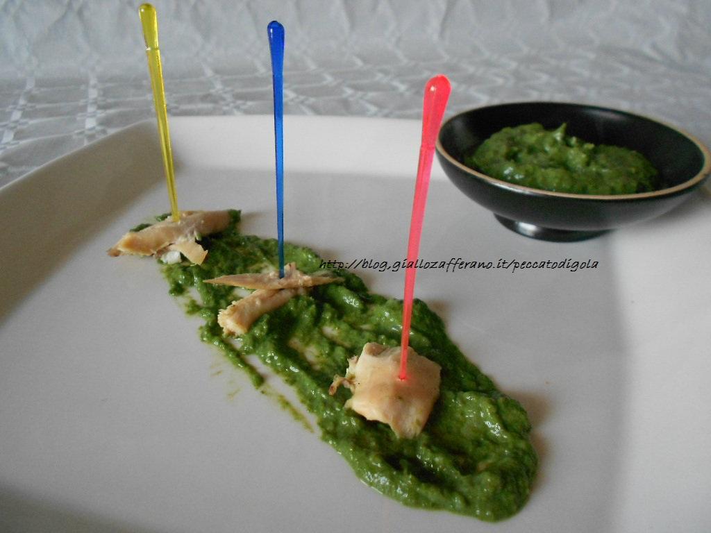 3) la salsa verde con il pollo