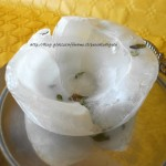 4) il contenitore di ghiaccio pronto