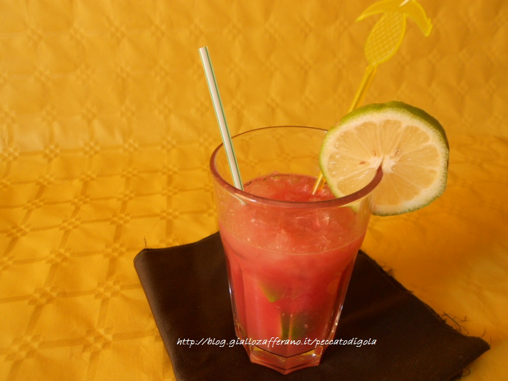 5) la caipiroska all'anguria pronta