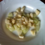 6) tagliare la frutta