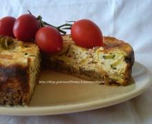 Cheesecake salato zucchine e prosciutto