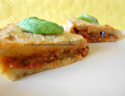 Pizza di pane alla parmigiana
