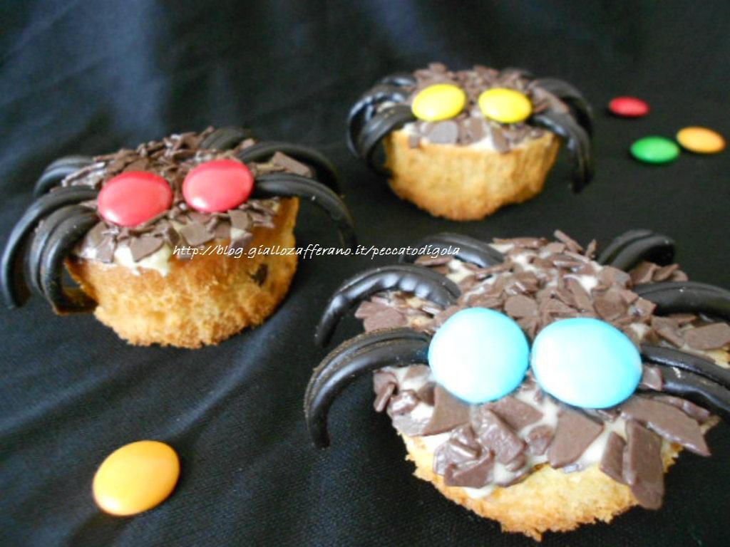 6) i cupcakes ragni di halloween pronti