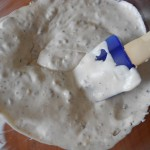 3) mescolate la panna con il torrone