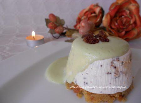 Cheesecake al torrone e panettone