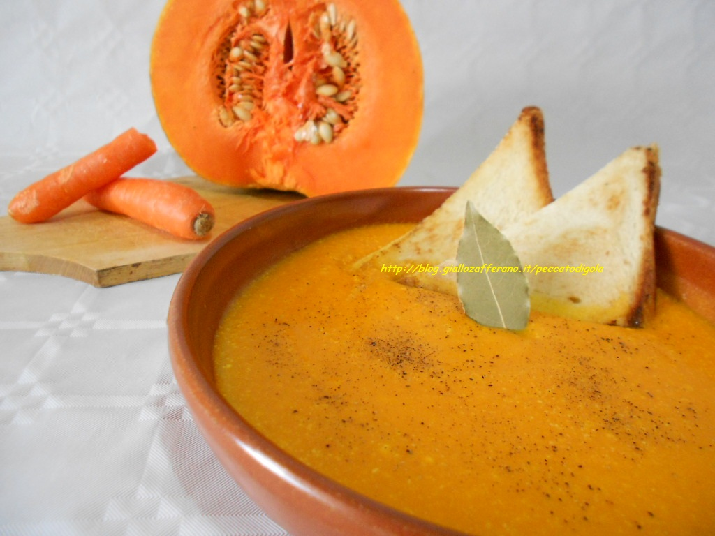 4) la vellutata di zucca e carote pronta