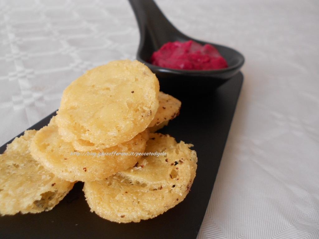4) le chips con farina di ceci pronte
