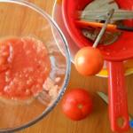 2) passate i pomodori
