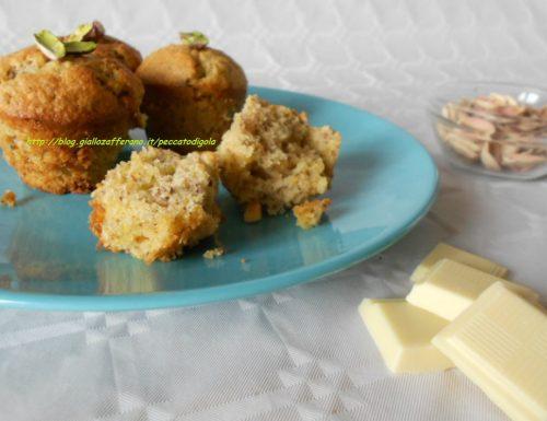 Muffin al pistacchio e cioccolato bianco   ricetta dolce