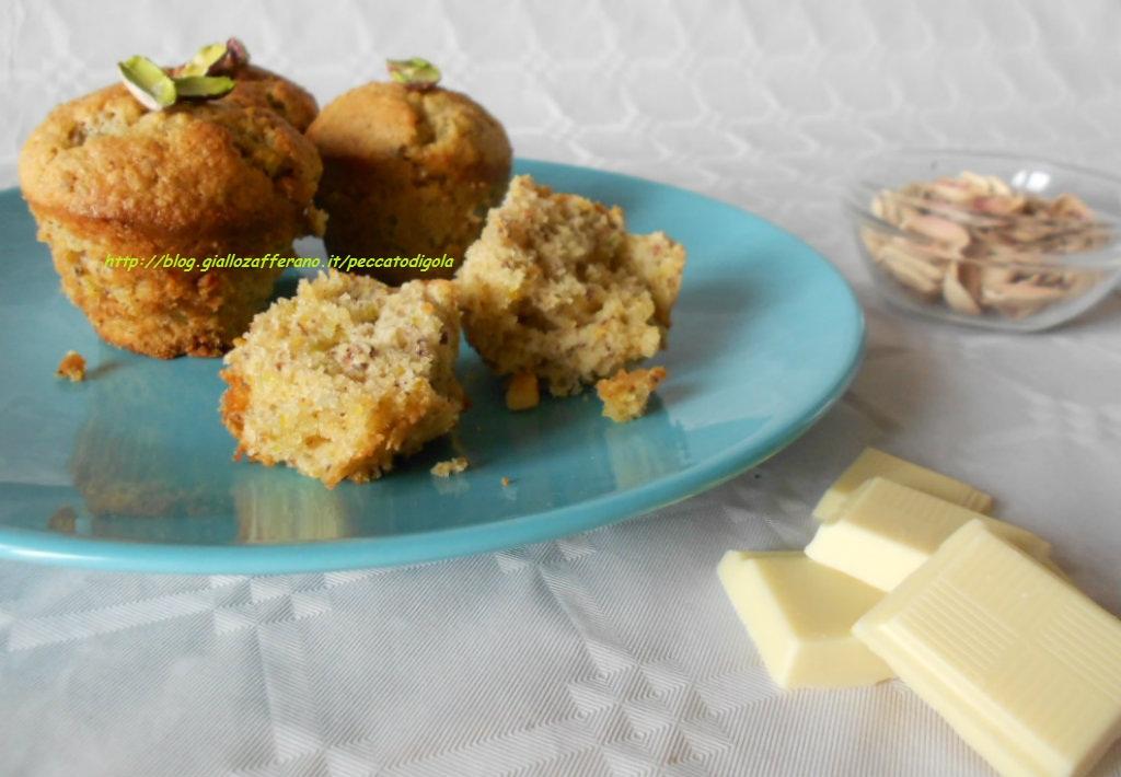 6) i muffin al pistacchio e cioccolato bianco pronti