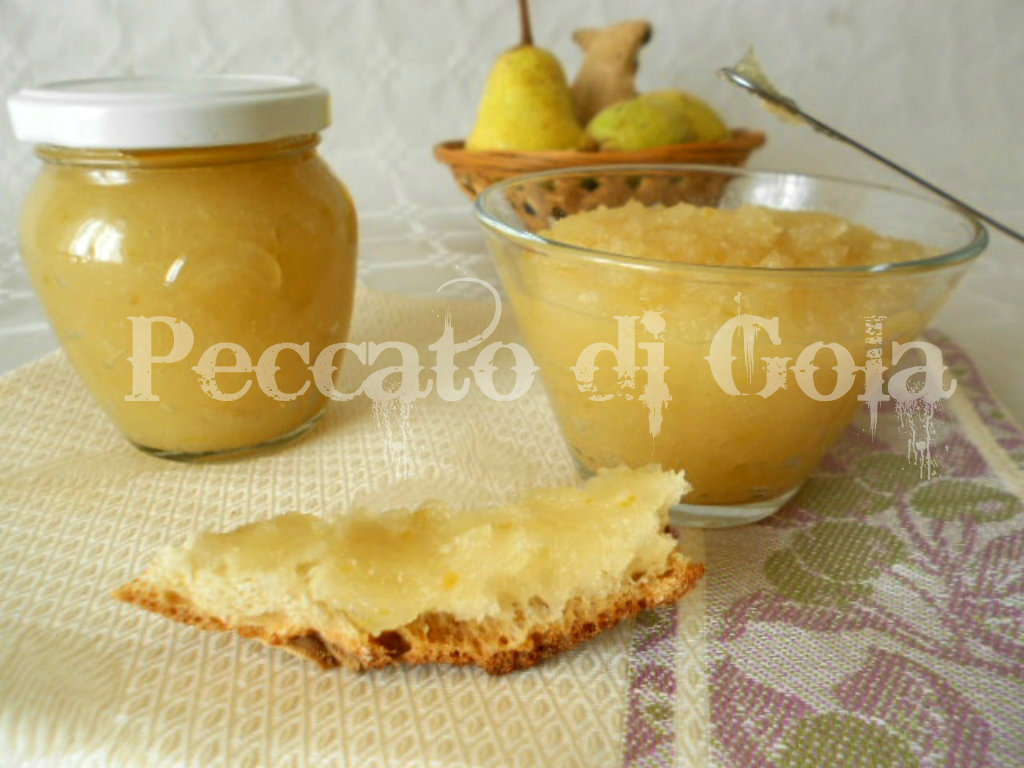 3) la marmellata di pere e zenzero pronta