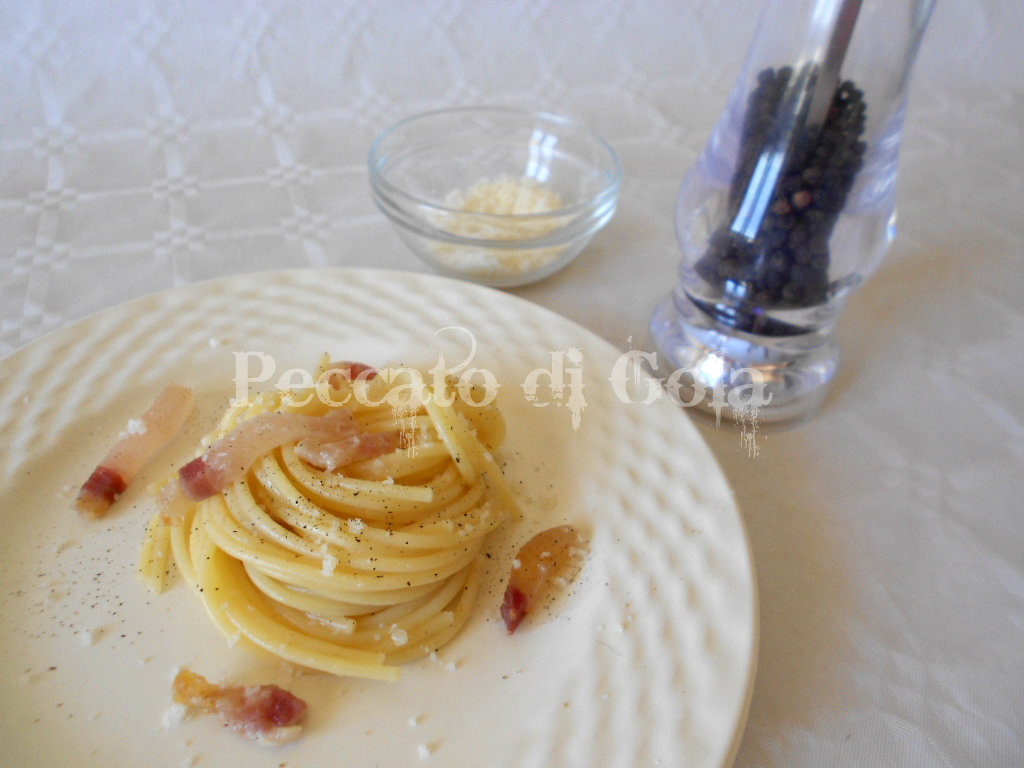 4) gli spaghetti alla gricia pronti