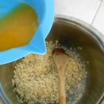 2) sfumate con il succo d'arancia