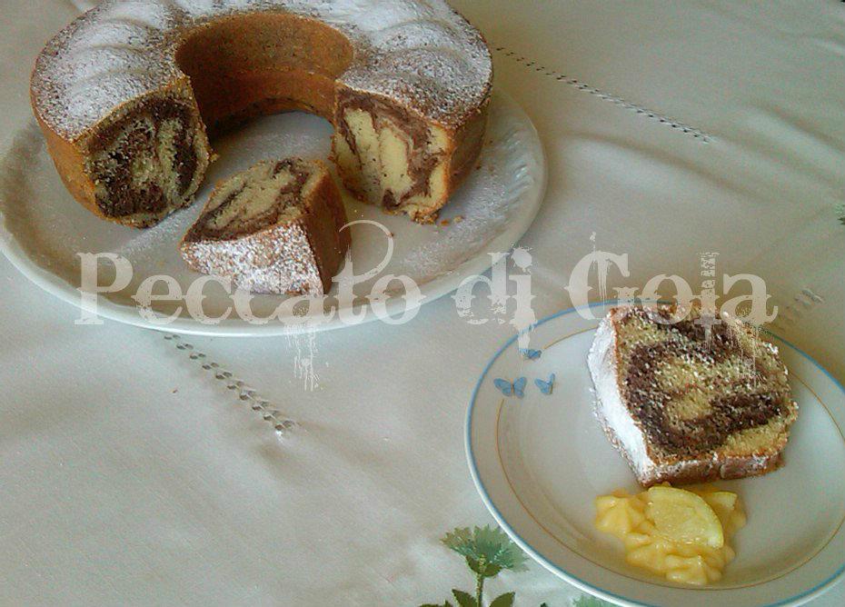 10) il ciambellone al cacao e limoncello pronto