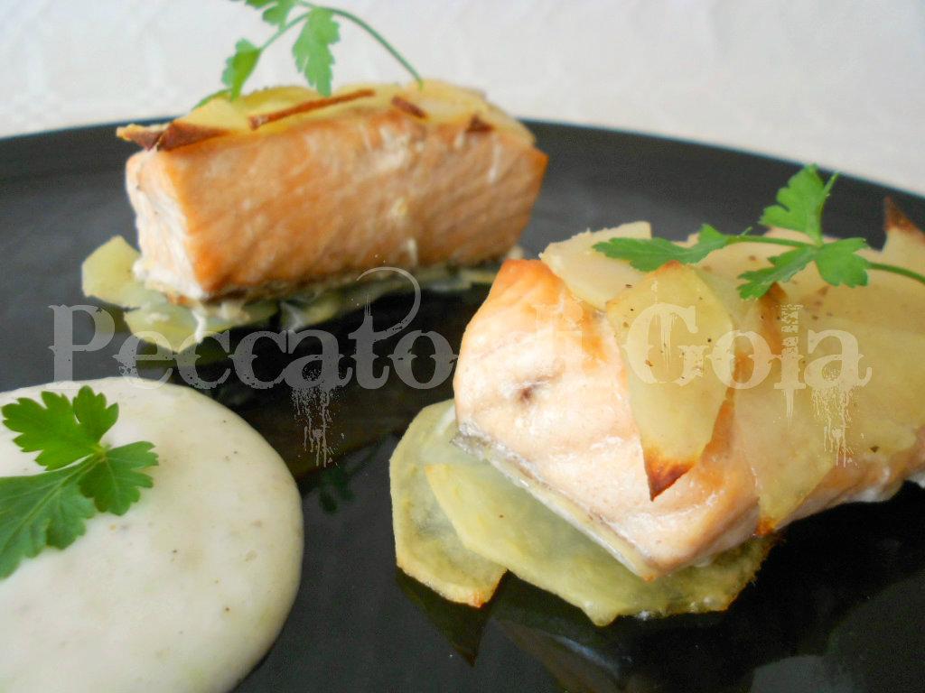 salmone in crosta di patate - peccato di gola