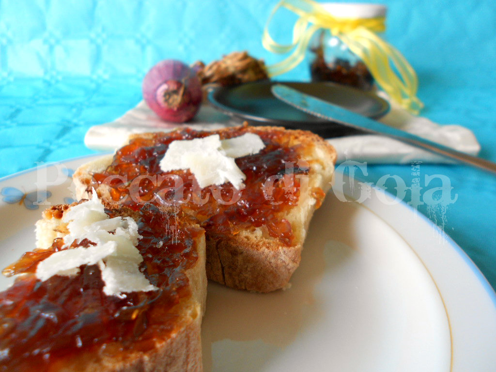 marmellata di cipolle rosse, peccato di gola