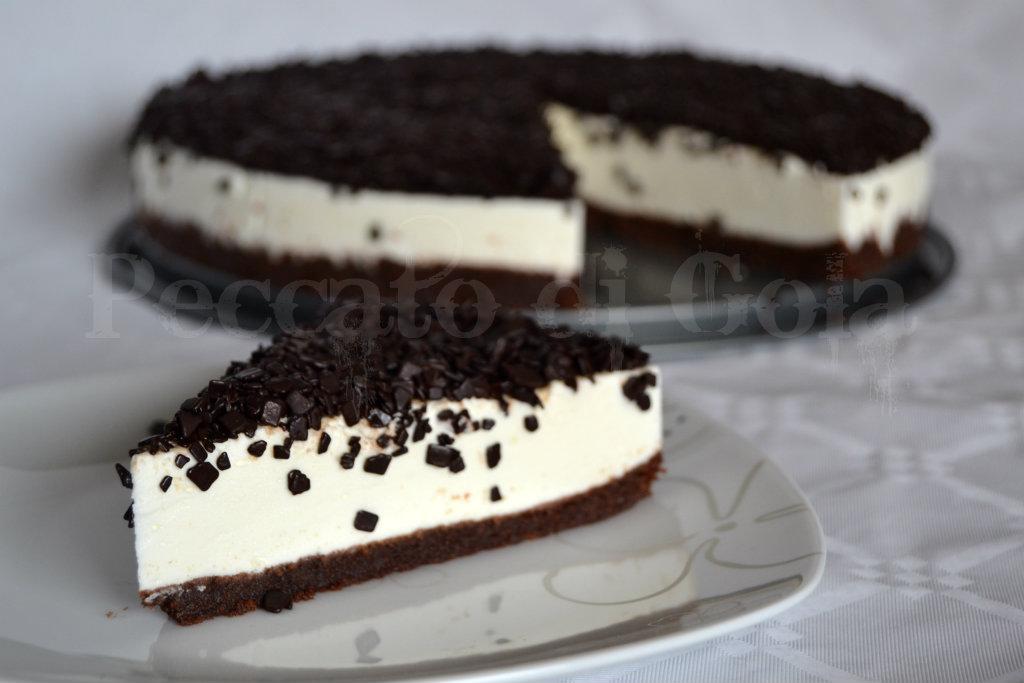 torta fredda allo yogurt ricoperta, peccato di gola