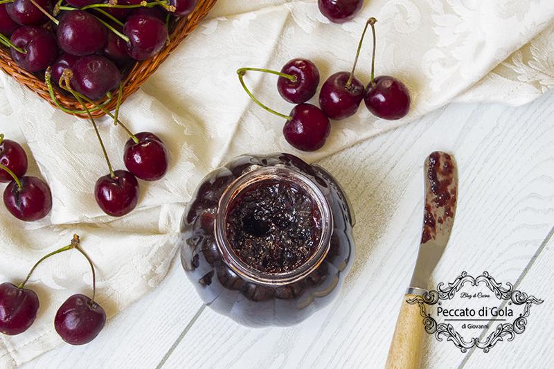 ricetta confettura di ciliegie, peccato di gola di giovanni