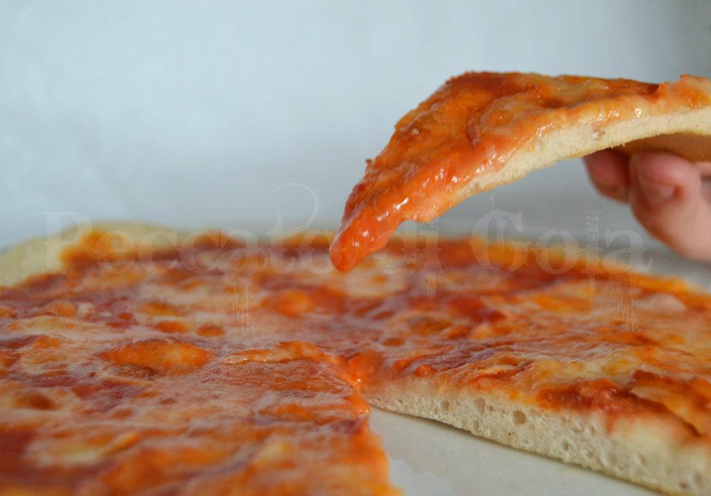 pasta di pizza napoletana a lunga lievitazione, peccato di gola