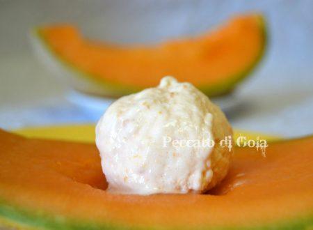 Gelato al melone cantalupo