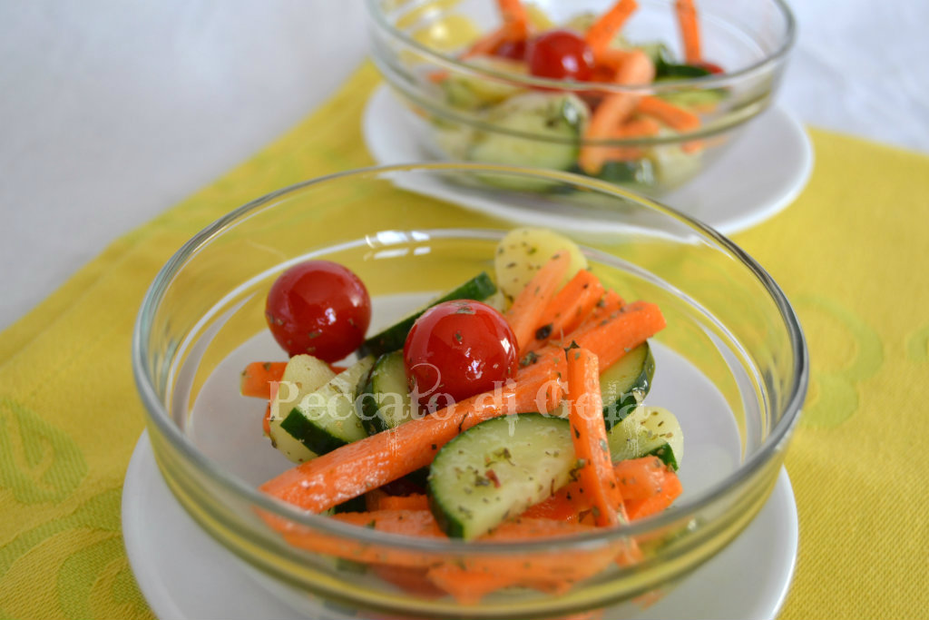 insalata di ortaggi, peccato di gola