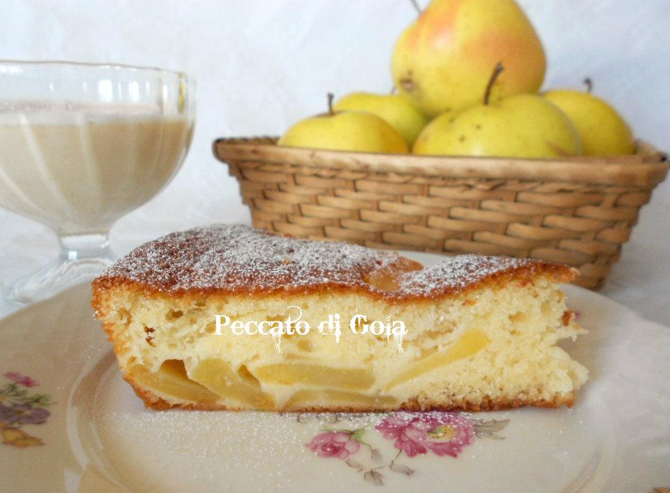 torta di mele con crema inglese, peccato di gola
